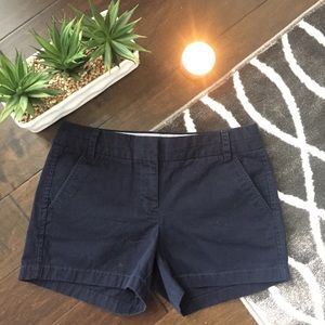 J.Crew 4in Chino Shorts Navy Blue Size 4 womens